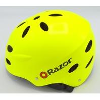 Razor - Medium - Fluorescent Yellow - Bicycle Helmet #FCJ-501