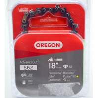 """Oregon S62 Replacement Chain Saw Chain 18"""", 3/8"""" Low Profile."""