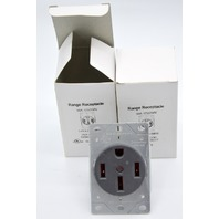 Eaton 8450N Range receptacle 50A 125/250V 3 pole 4 wire pep flush - 2 pcs.
