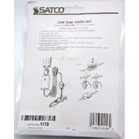 Satco Lighting Accessory Live End Cord Kit with Switch - White #TP157