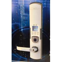 Entry Door Keylock pin code & fingerprint lock #6600-92, Silver, Left Handle