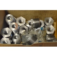 "Pipe Reducer, Hex Bushing 3/8"" -1"" - 25 piece lot.  Some have a little rust from sitting."