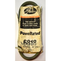 "Gates PowerRated V-Belt #6818 18"" in length  x 1/2"" top width"
