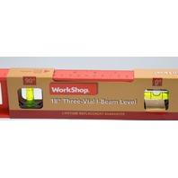 "WorkShop 18"" Three-Vial I-Beam Level #87116"