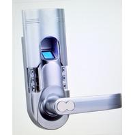Entry Door Keylock pin code & fingerprint lock #6600-92, Silver, Right Handle