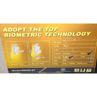 Keylock Biometric Fingerprint+Keypad Door Lock Silver #6600-97 /Right Hand