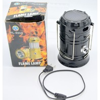 Flame Lamp - Solar Rechargeable Battery 1200mAh - 1 LED 100 Lumen.
