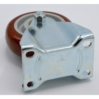 """4""""x 1 1/4"""" Plate Mount Poly on Poly Rigid Caster, 400 lb capacity"""