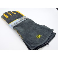 """Steven Raichlen """"Best of Barbecue Extra Long Suede Grill Gloves"""" SR8038"""