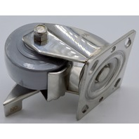 """4 - 4"""" x 2"""" Hi-Tech Performa Thermoplastic wheels, SS rig with brake, 300 lb capacity."""