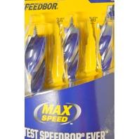 "Irwin Speedbor Spade Bits - Drill 2X Faster* Holes - 1/4"" bottom, 5/8"",3/4"",1"" Open Box"