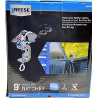 Reese 2 pack Retractable Ratchet clamps for 9' Bed, 1200 lb break strength, #9547300