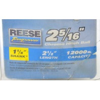 "Reese 2 5/16"" Chrome Trailer Receiver Hitch Ball-1 1/4"" Shank, 12,000 # Capacity"