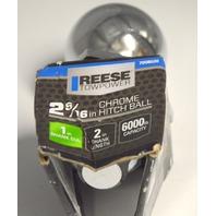 "Reese 2 5/16"" Chrome Hitch Ball 1"" Shank 6000 Capacity #7008620"