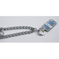 "Sprenger Chrome Plated Dog Training Collar 18"" neck size, length 23"", 3.25mm heavy"