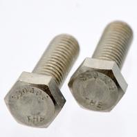 "25 Pcs Hex Head Bolt 1/2""-13 x 1 1/2""Long Stainless Steel.  S30400"