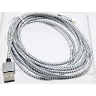 3 Pack 10 Ft Heavy Duty Braided Lightning USB Charger Cable iPhone