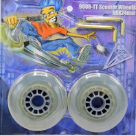 900R-TT Scooter Replacement uWheels 99X24mm - 2 Wheels and 2 Tools. SW1000