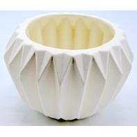 Bloomingville Round Ceramic Fluted Flower Pot Shallow Garden Pot  BVM.762