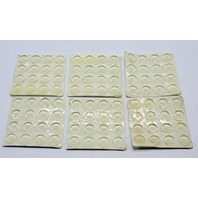 """Clear Self Stick Bumpons, 16 to a card, 6 cards to a lot. Bulk #9967-1/2"""" Dia, 1/8"""" Thick."""