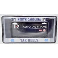North Carolina Tar Heels Chrome License Plate Frame Tag Cover. FC130104