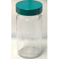 BTL-GG-4-CS  6 - 4 oz Clear Bottles w/Screw Cap.  Measurement on the side oz & ml-