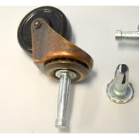 "#9347 Shepherd 1 5/8"" stem caster - 2 pcs -Ball bearing - Brushed copper color."