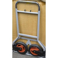 "Foldaway Hand Truck w/Loop Handle 7"" Wheels, 40""H, 19""W and 10""D. 150LB load."