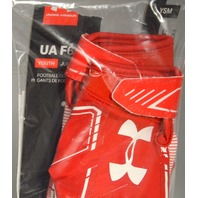 Under Armour UAF6 Youth Glue Grip YSM Football Gloves Red/White
