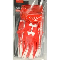 Under Armour UAF6 Youth Glue Grip YSM Football Gloves Red/White