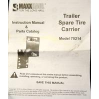 MaxxHaul Trailer Spare Tire Carrier Model 70214 - Powder Coat Black