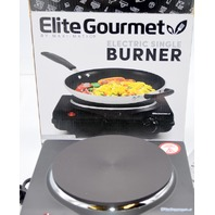 Elite Gourmet Electric Single Flat Cast Heating Burner Plate. #ESB-301BF/ESB-301F