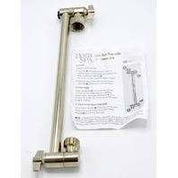 "Hotel Spa Solid Brass Extendable Shower Arm 11"".  Directions Enclosed.  #4203"