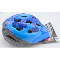 Bell Child Rally Bike Helmet and Visor- 5+ 2 tone blue - Size 52 - 56 New.