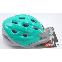 Bell Womens Thalia Bicycle Helmet 14+, Size 54 - 58 + Visor.   Green and Gray. New