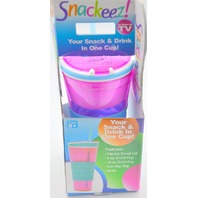 Snackeez 2 in 1 Snack & Drink in one Cup - New  #PAC11147