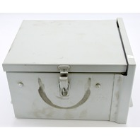 "Hoffman A10R86HCR Rainproof Metal Junction Enclosure 10x8x6""."