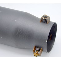 DC Sports Black & Black Universal Bolt on Stainless Steel Exhaust Tip