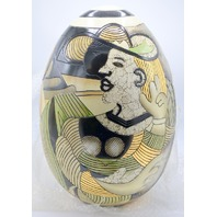 "18"" Picasso Egg #9902 - 703, Decorative Pottery - New"