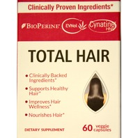 Physician's Choice, Total Hair, 60 Veggie Capsules Exp. Date 01/2022.