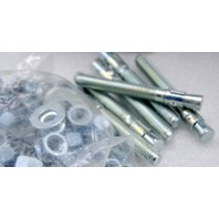 "3/8"" x 3"" Wedge-All Heavy Duty Anchors Zinc Pated Steel w/washers & nuts- 50 pc box."
