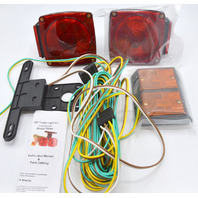 12V Trailer Light Kit Utility RV Wiring Stop Turn Tail Side Market Optronics. Open Box