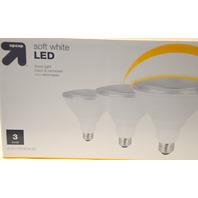 90W Soft White LED 3 pack -  up & up -  Brightness 1000  lumens.