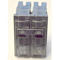 Siemens Circuit Breaker-2 Poles-Type QP- 120/240 V, 20 / 20 Amps Duplex.  L-5538