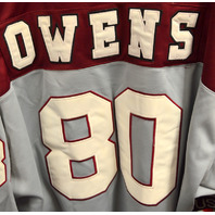 Terrell Owens, Benjamin Russell High retired this Jersey  #80. 69-70