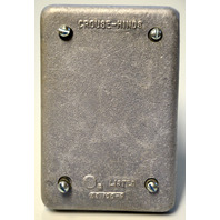 Crouse-Hinds DS100G Cast Aluminum Surface or Flush Condulet Cast Cover. New.