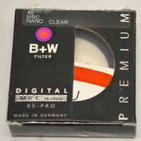 B+W 49mm FILTER XS-PRO, NANO CLEAR, #1066103 - PREMIUM