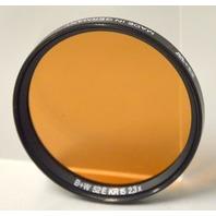 Vintage B+W 52E KR15 2,3X - Glass Filter with Plastic case. Peach Lens