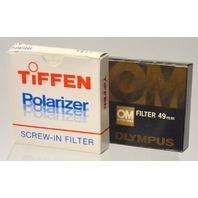 14 Pcs Of 49mm Lens Filters: Vivitar,Tiffen,Olympus,Asanuma and more  49A