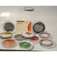 12 pcs of 55mm camera lens filters:Printz, Vivitar, Lyndcrest, Minolta and more. #55A